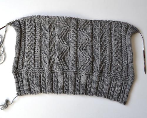 Men's Aran Pullover (wip)