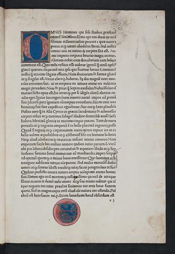 Unidentified painted coat of arms in Sallustius Crispus, Gaius: Opera