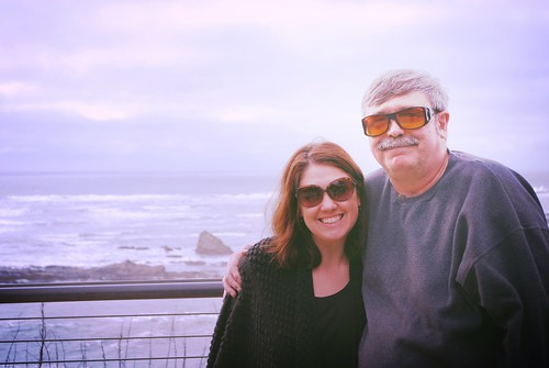 Dad & me, Oregon coast 2013