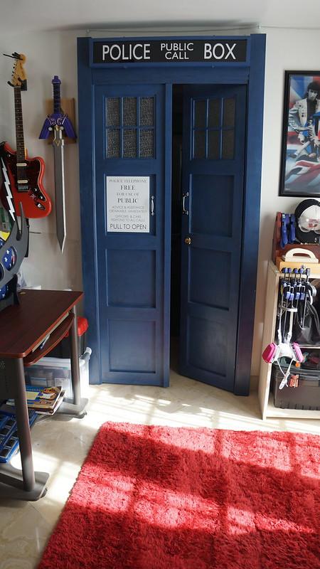 TARDIS Bedroom Doors