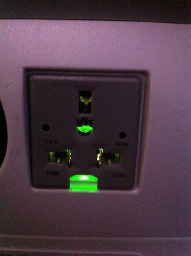 American Airlines 777-300ER AC outlet