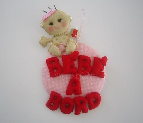 ♥♥♥  Bébé à bord... by sweetfelt \ ideias em feltro