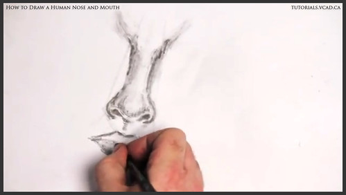 learn how to draw a human nose and mouth 012
