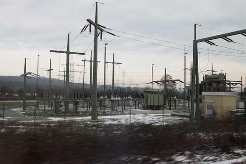 DB Unterwerk ('railway traction substation') at Aschaffenburg