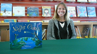 Author Brenda Ehrmantraut with her book, Night Catch