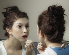 bride(0.0), dress(0.0), interaction(0.0), nose(1.0), face(1.0), hairstyle(1.0), chignon(1.0), skin(1.0), bun(1.0), lip(1.0), head(1.0), hair(1.0), ear(1.0), beauty(1.0), eye(1.0), organ(1.0),