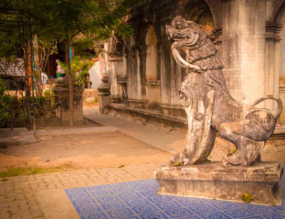 Lion Guarding the Stupa at Wat Pa Pao, Chiang Mai