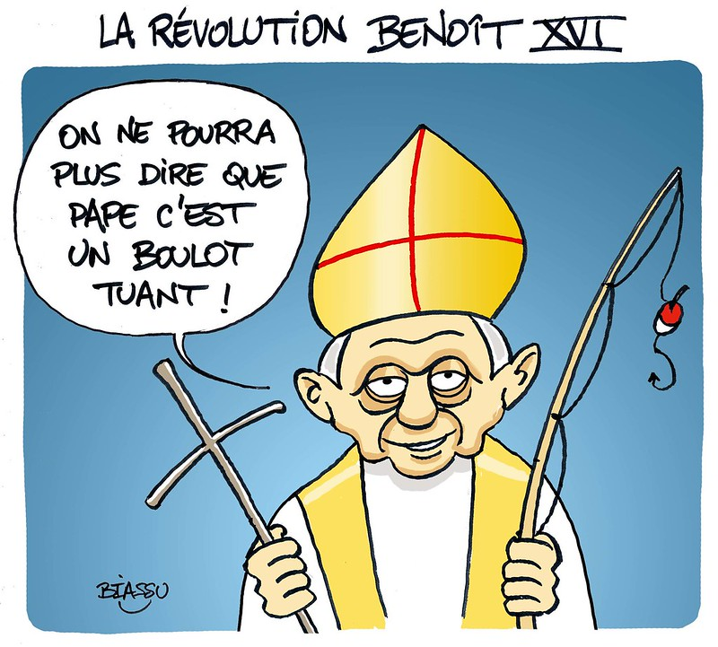 Biassu+Pape+benoît+XVI+dessin