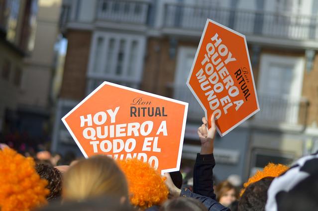 Hoy quiero a todo el mundo en una bulla de Cádiz