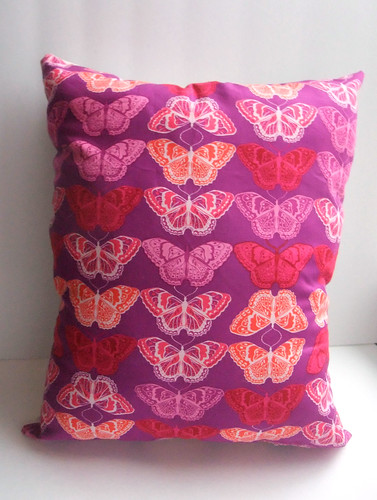 Moths Pillow pink