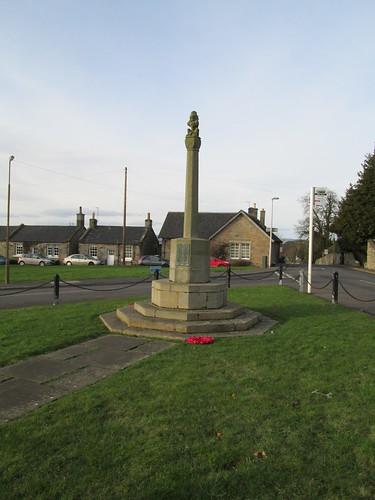 The war memorial at Dalmeny
