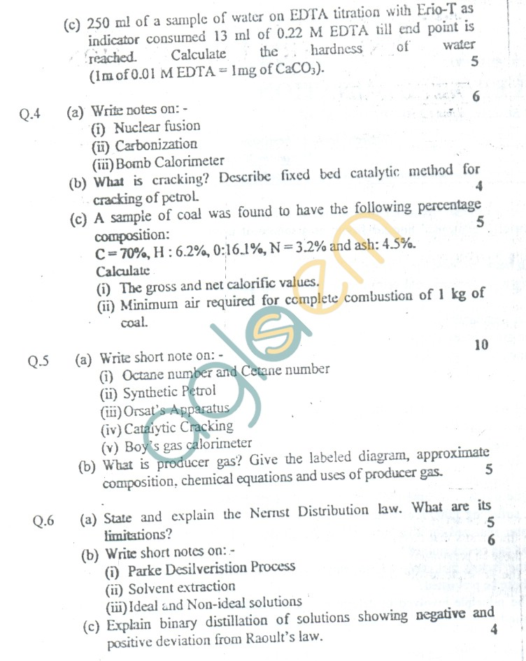 GGSIPU: Question Papers First Semester – Third Term 2005 – ETCH-105