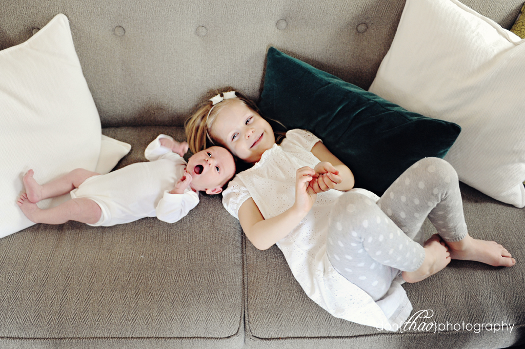 sleek, modern newborn baby girl photoshoot in downtown Grand Rapids, MI