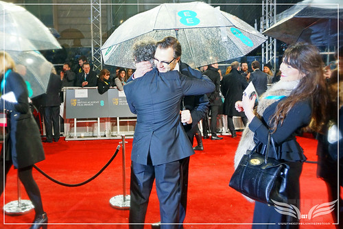 The Establishing Shot: EE BAFTAs RED CARPET NOMINEE DEXTER FLETCHER & DAVID MORRISSEY HUG by Craig Grobler