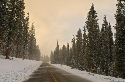 winter sunset snow colorado pass slumgullion scenicbyway silverthread hinsdalecounty coloradohighway149