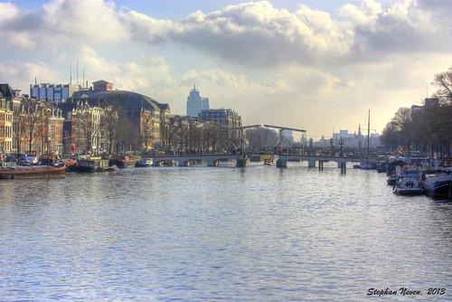 bridge water netherlands amsterdam river skinny nederland brug hdr amstel carre magere