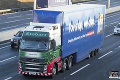 Volvo FH 6x2 Tractor - PX11 BYR - Harriet Freya - Eddie Stobart - M1 J10 Luton - Steven Gray - IMG_0559