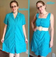 Dragonfly Dress Before & After