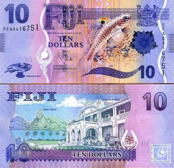 10 Dolárov Fidži 2012-13