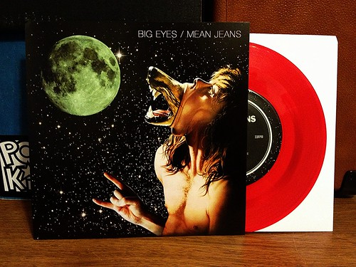 "Big Eyes / Mean Jeans - Split 7"" - Red Vinyl (/200) by Tim PopKid"
