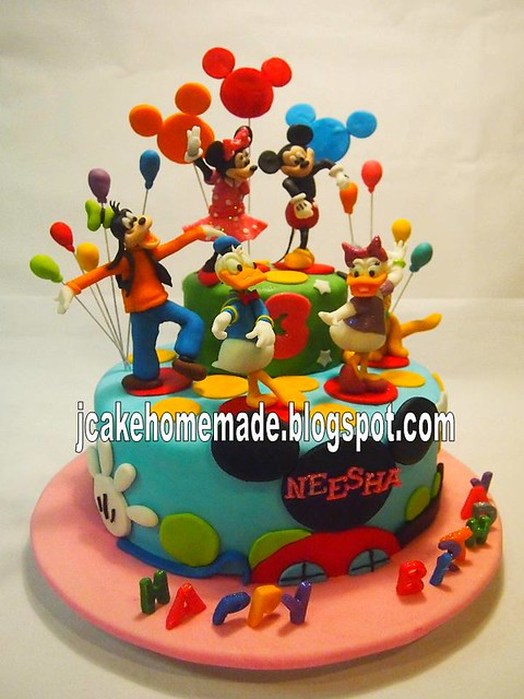 Mickey Mouse Clubhouse Birthday Cake Happy 3rd Birthday