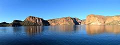 Panorama of Reflections on Canyon Lake