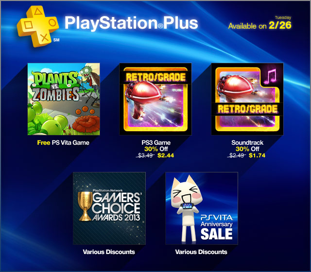 PlayStation Plus Update 2-26-2013