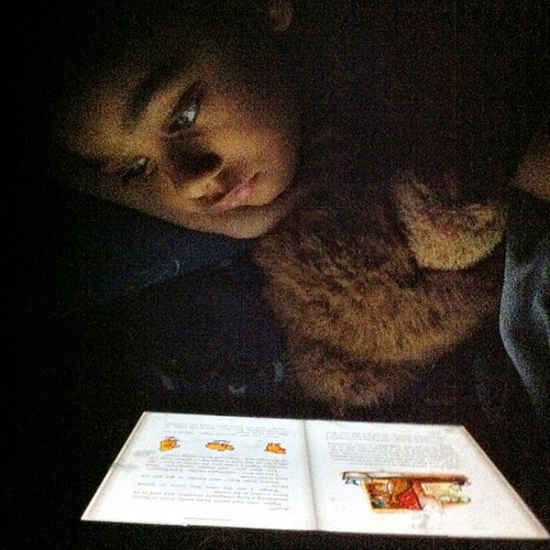 the tech kid's version of a book and a flashlight. #iPad #iBooks #booknerd #techie #babyluv