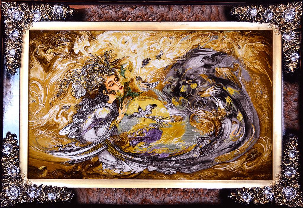 tableau-hand-made-persian-rug-farschian-silk-faces