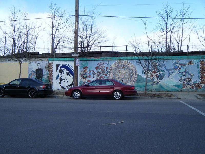 Mother Teresa and Maya mural