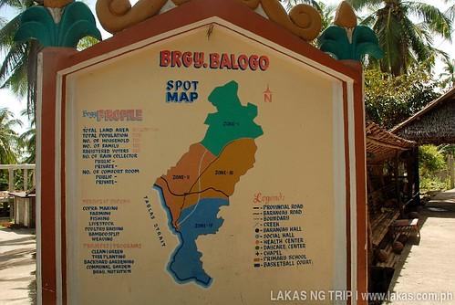 Statistics Board of Barangay Balogo in Banton Island, Romblon