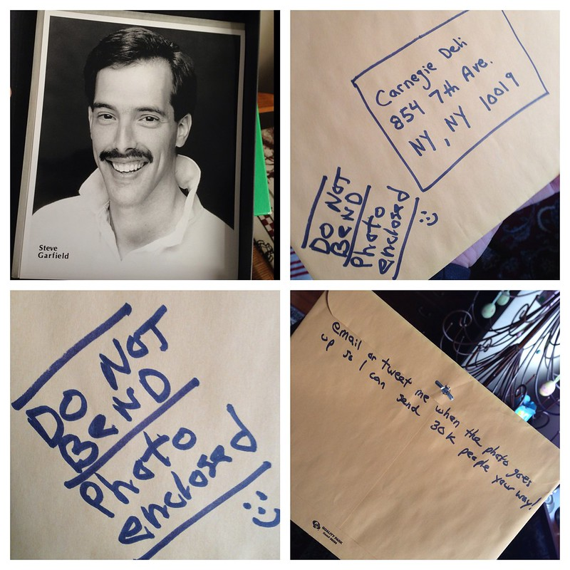 [Photo] Submitting to the Carnegie Deli wall of fame