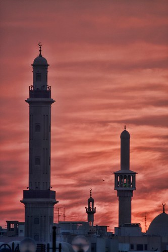 city trip travel november sunset red vacation sky orange white black building tower weather architecture clouds contrast canon eos flickr dubai day view cloudy outdoor united uae mosque emirates arab modified gps oriental range unitedarabemirates deira 100400mm 2012 topaz dubayy deiradubai d85 canoneos1dmkiii baniyasroad