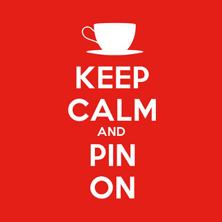 Keep Calm & Pin On - Red