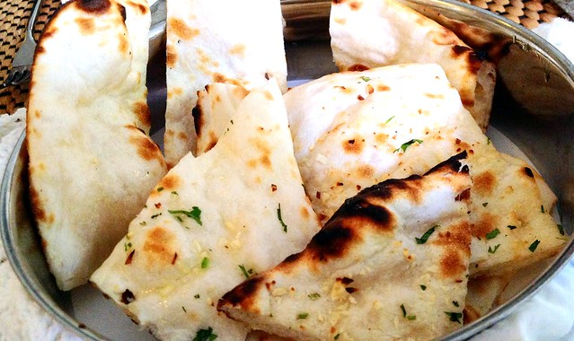 Regular and Garlic Naan