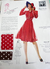 Fashion Frocks: Polka-Dotted Rayon Shirtwaist, 1940s