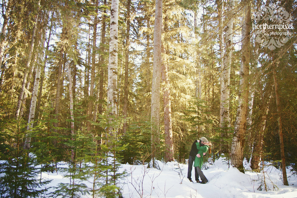 Snowy Winter Engagement Session Prince George British Columbia Forests For The World