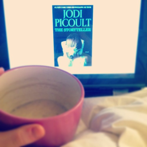 jodi picoult the storyteller and a cup of coffee