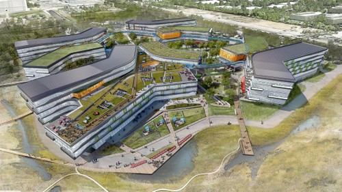 Google построит офисный комплекс с зеленой крышей в Калифорнии