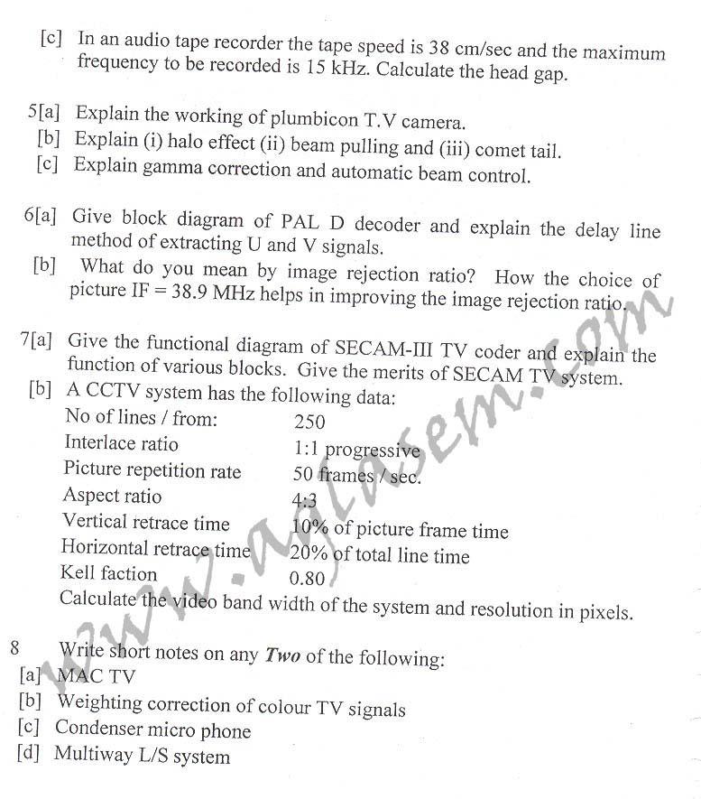 NSIT: Question Papers 2010 – 8 Semester - End Sem - EC-IC-411