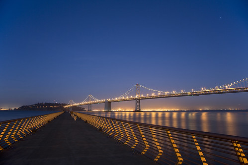 sf sanfrancisco bridge dusty night us clear baybridge bluehour pier14