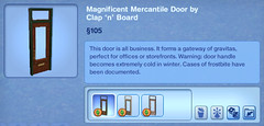 Magnificent Mercantile Door by Calp 'n' Board