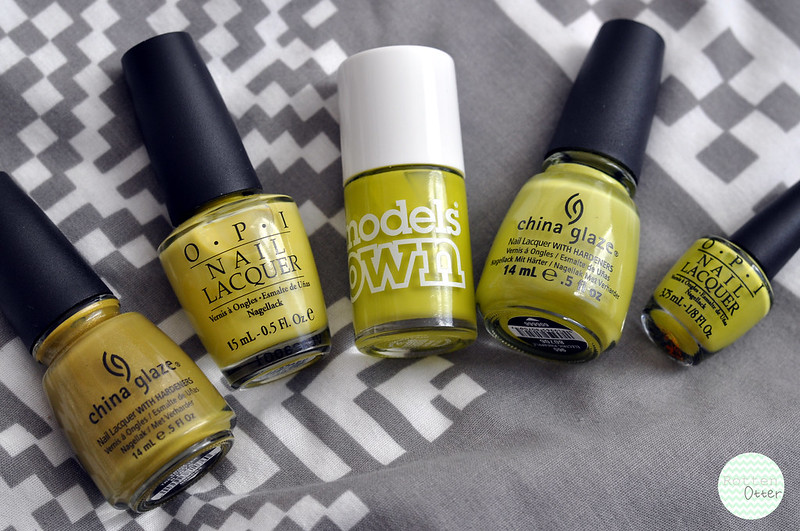 green yellow nail polish choices rottenotter blog 2
