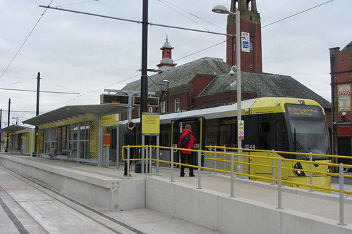 Rochdale tram station and Fire Station