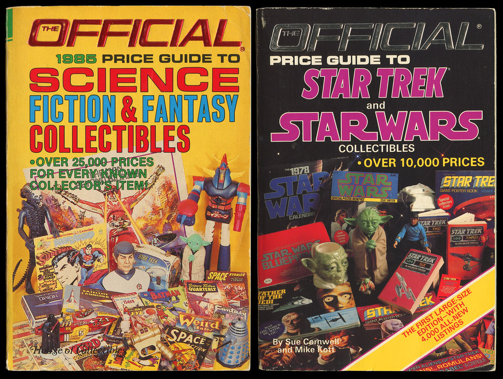 1985 Official Price Guide To Science Fiction & Fantasy Collectibles and 1986 Official Price Guide to Star Trek & Star Wars Collectibles