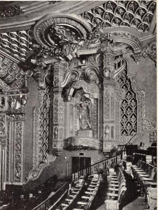 Oriental Theatre, Chicago, IL in 1926 - Central Wall above Balcony