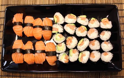 Plateful of sushi