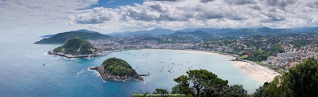 Panorámica de Donostia desde Monte Igueldo