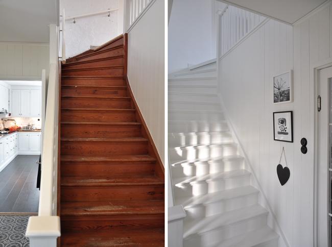 halltrappan före och efter