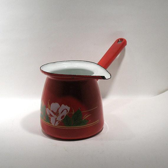 Enamel Kitchen Accessories: Turkish Coffee Pot (Cezve)